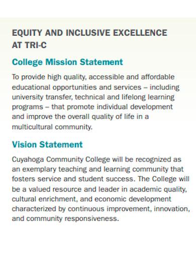 university student equity statement