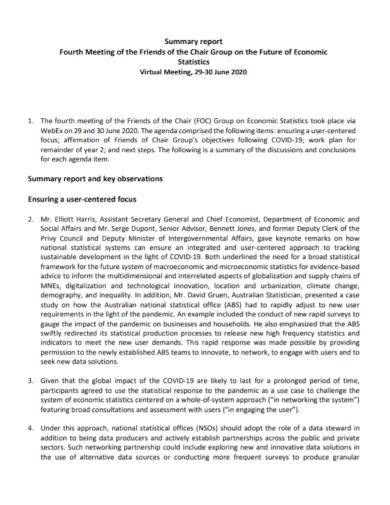 virtual meeting summary report