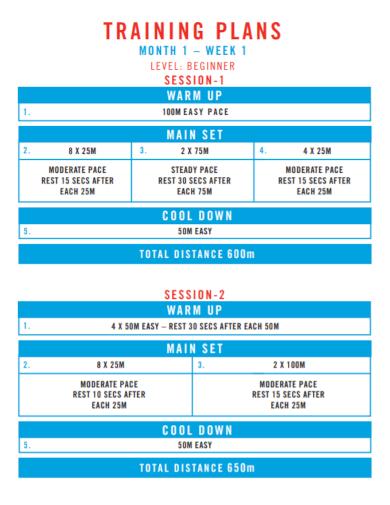 30 day beginner session training plan