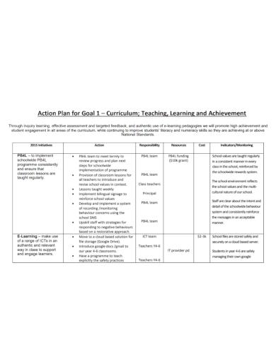 action plan for teachers goal