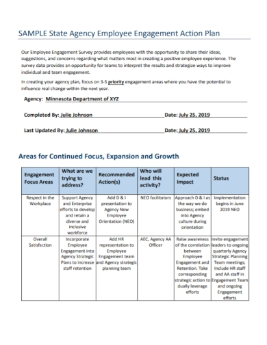 agency employee engagement action plan