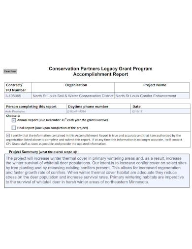 annual organization accomplishment report