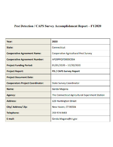 annual survey accomplishment report