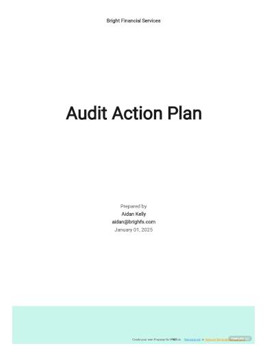 audit action plan template