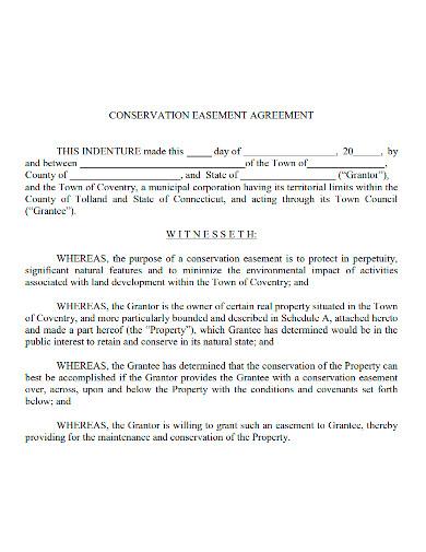 basic conservation easement agreement