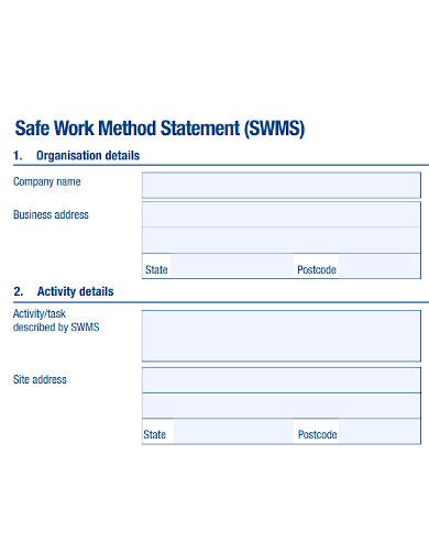 basic safe work method statement