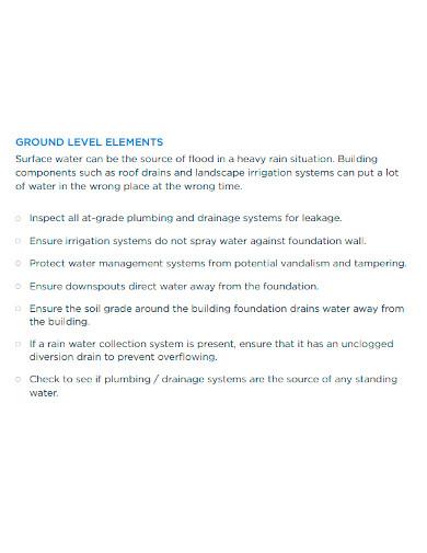 building envelope inspection checklist