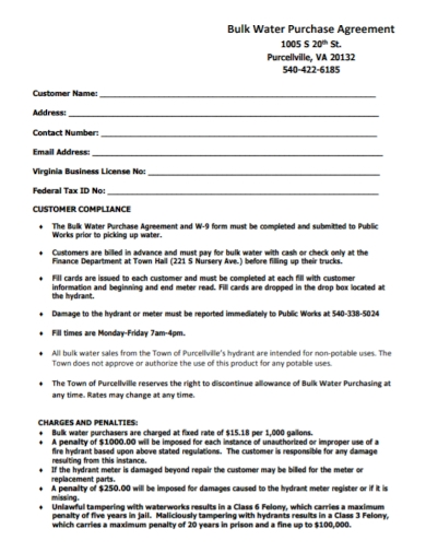 bulk water purchase agreement