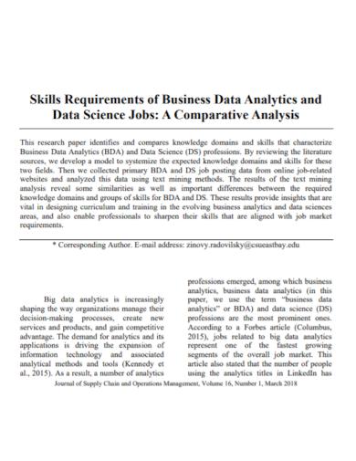 business data skills analysis