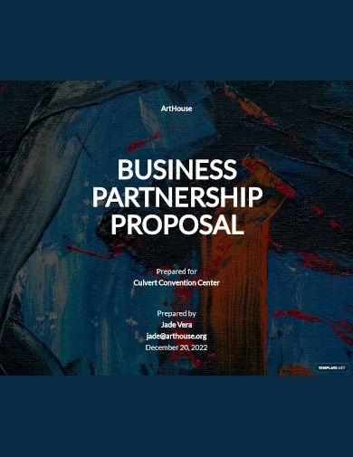 business partnership proposal format
