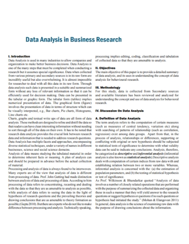 business research data analysis