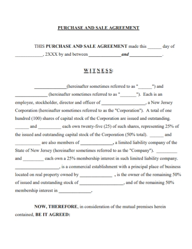 capital stock sale and purchase agreement