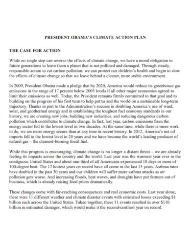 climate case action plan