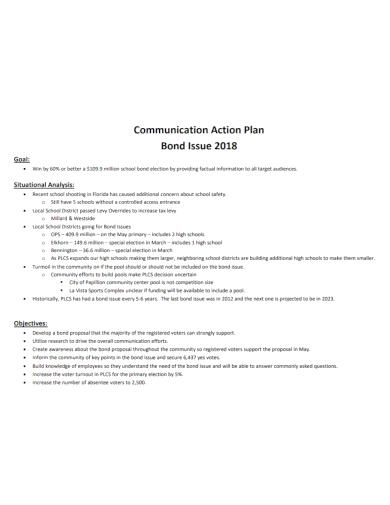communication goal action plan