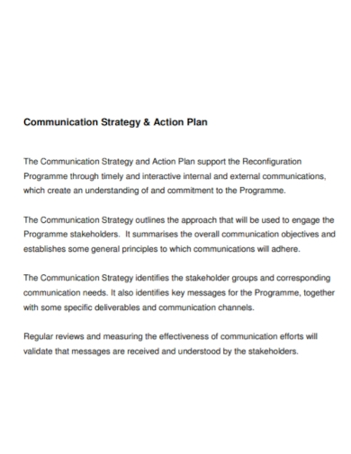 communication strategy action plan