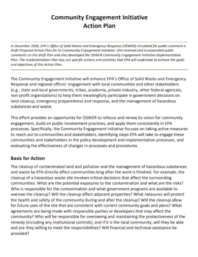 community engagement initiative action plan