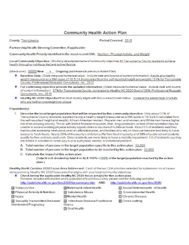 community health action plan