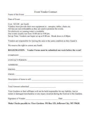 company event vendor contract