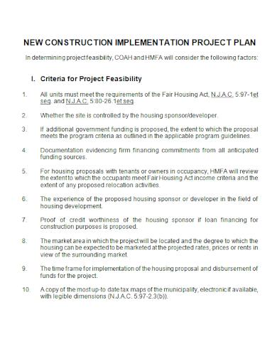 construction implementation project plan