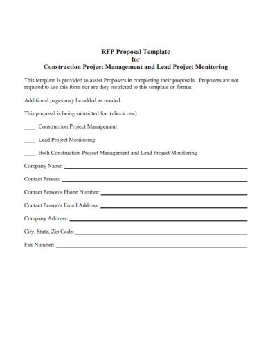 construction project management proposal