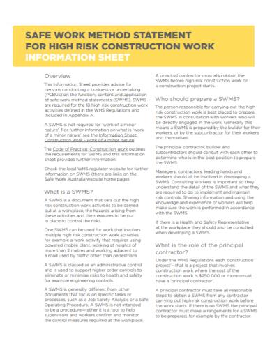 construction work method statement