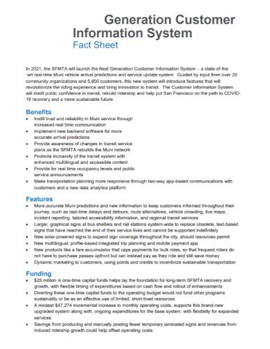 customer information system fact sheet