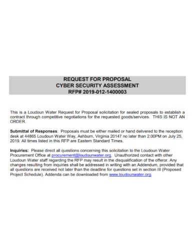 cyber security assessment proposal