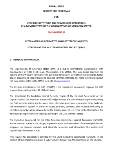 cyber security bid request for proposal