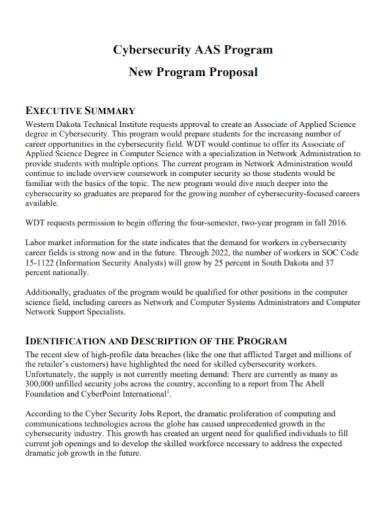 cyber security program proposal