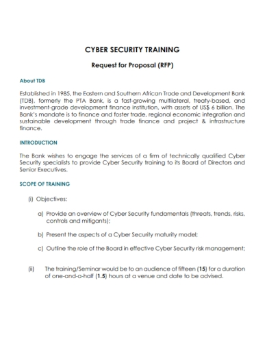 cyber security training proposal