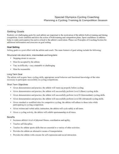 cycling competition training plan