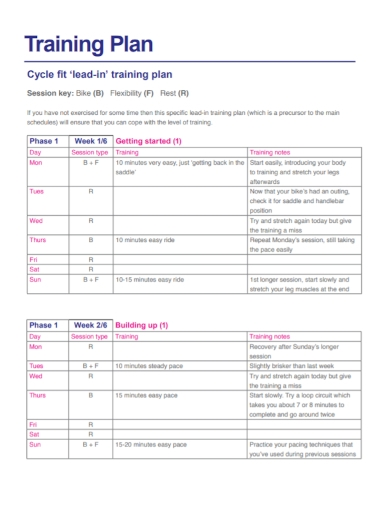 cycling fit training plan