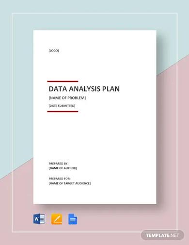 data analysis plan sample