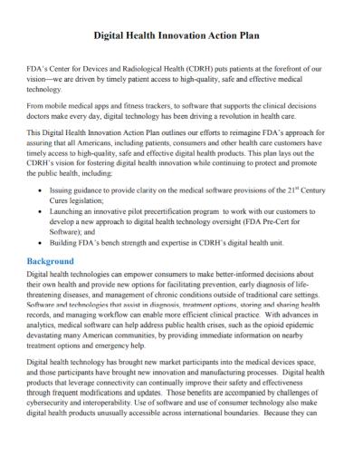 digital health innovation action plan