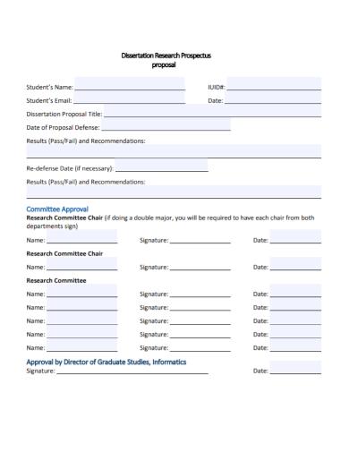 dissertation research prospectus proposal
