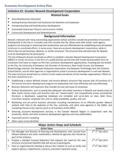 economic development action plan