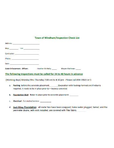 editable building inspection checklist