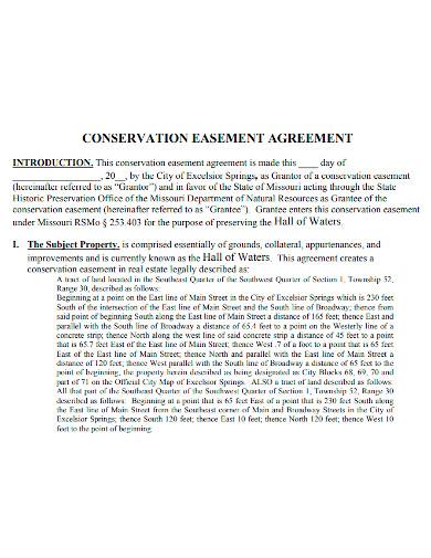 editable conservation easement agreement