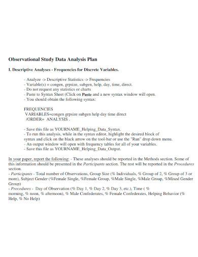 editable data analysis plan