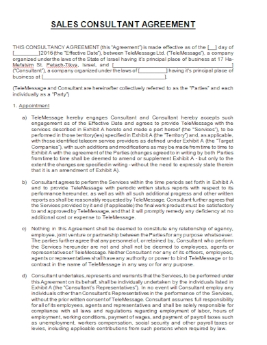 editable sales consultant agreement