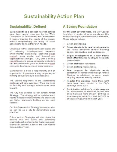editable sustainability action plan