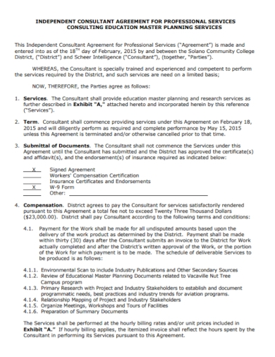 educational independent consultant agreement