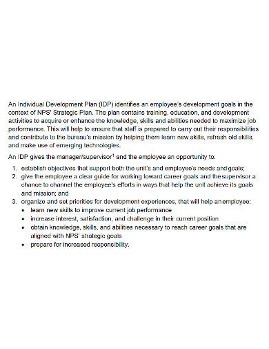 employee career development plan format