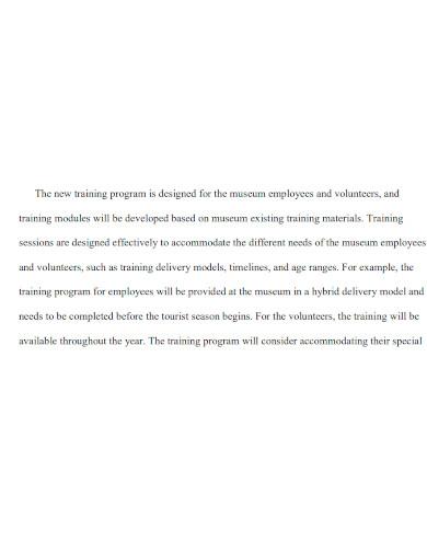 employee training proposal