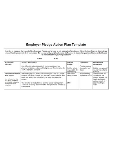 employer pledge action plan
