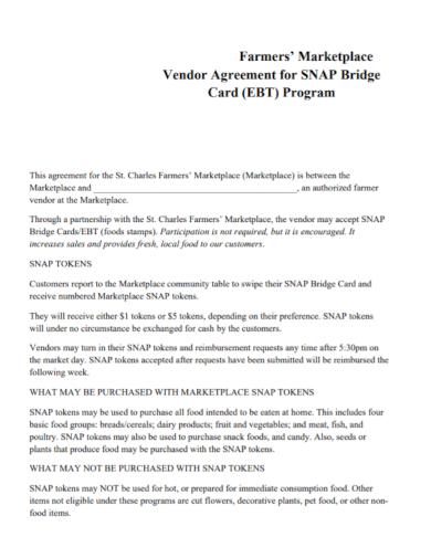 farmers marketplace vendor agreement