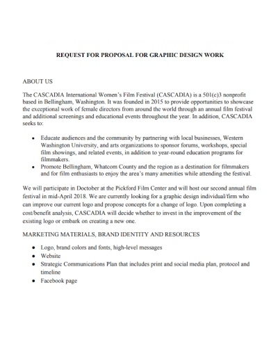 film festival graphic work request for proposal