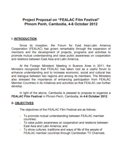 film festival project proposal