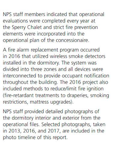 fire division investigation report