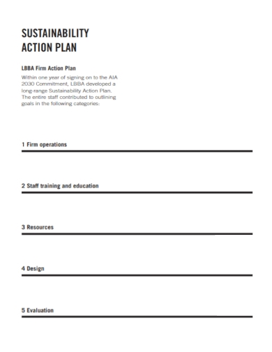 firm sustainability action plan